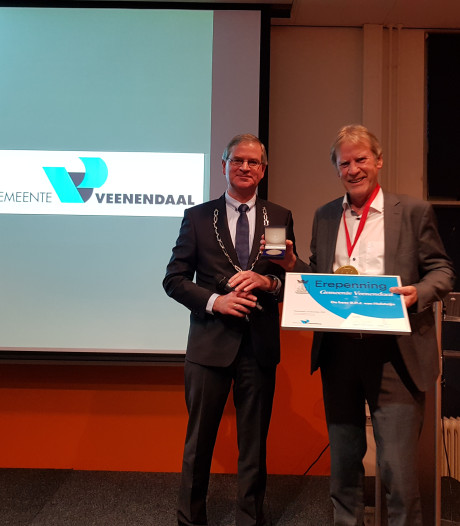 René van Holsteijn krijgt Erepenning van Veenendaal
