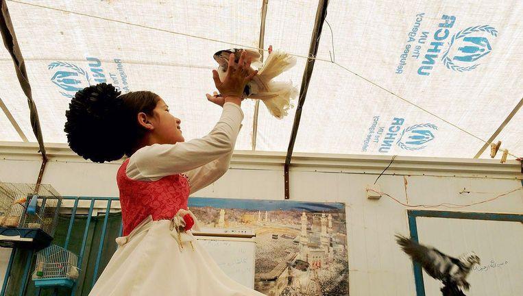 De ouders van Nour hadden in Deraa een dierenwinkel Beeld Zaatari Djinn