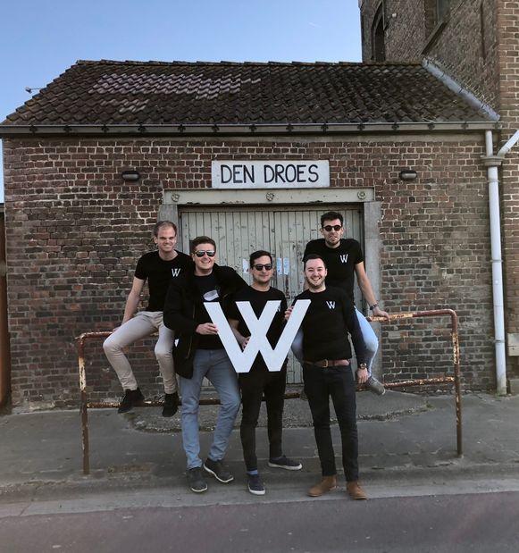 De organisatoren van Vice Versa Events: Brent Smedts, Ruben Algaba, Pieter-Jan Potloot, Dennis Van Gysel, Antoni Cassiman.