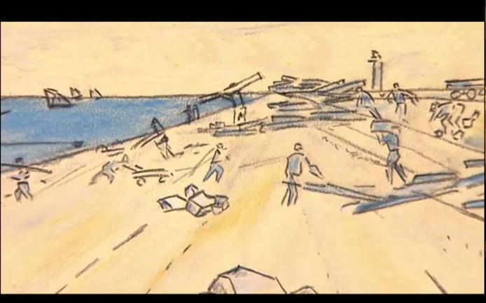 Tekeing van Jan Toorop, Still uit uitzending Tussen Kunst en Kitsch woensdagavond