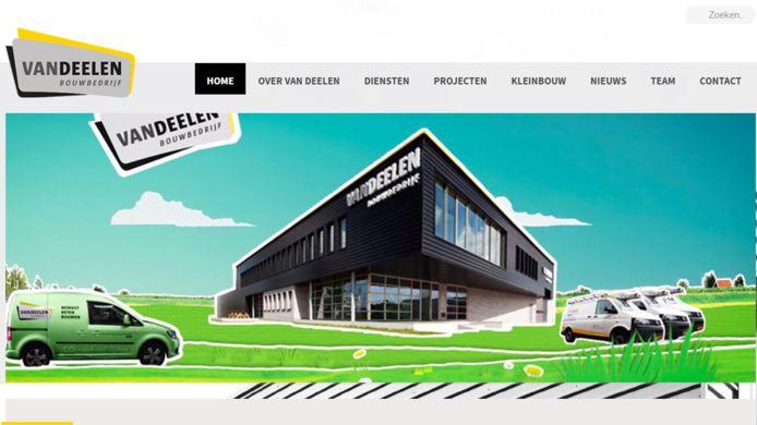Website van Bouwbedrijf Van Deelen.