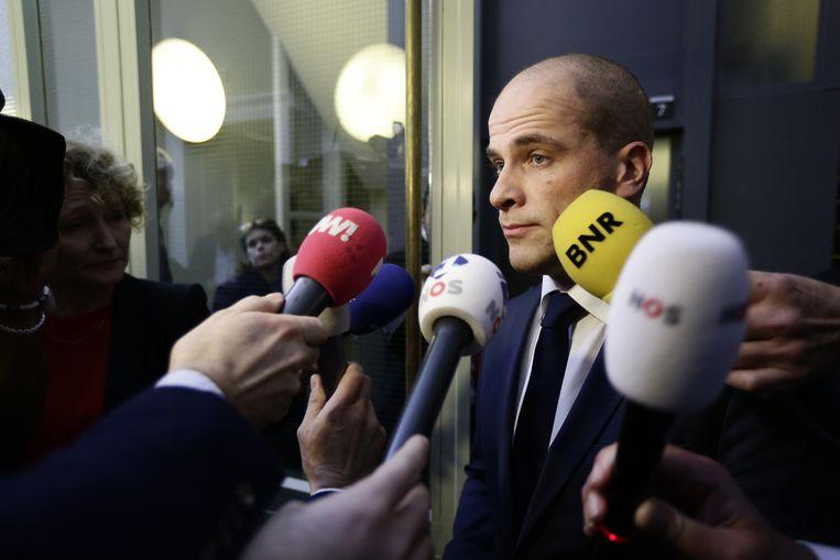 PvdA-leider Diederik Samsom geeft een toelichting op het vertrek van de PvdA-Kamerleden Beeld anp