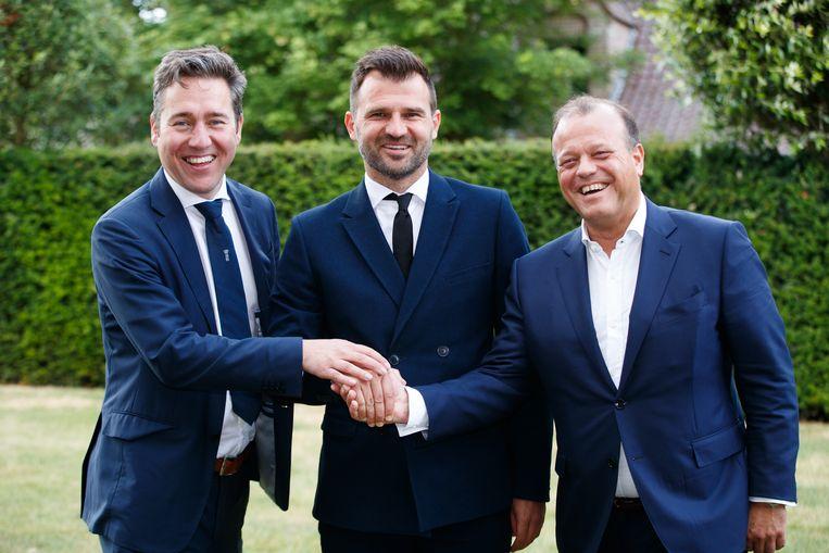 Vlnr.: Vincent Mannaert, Ivan Leko en Bart Verhaeghe.