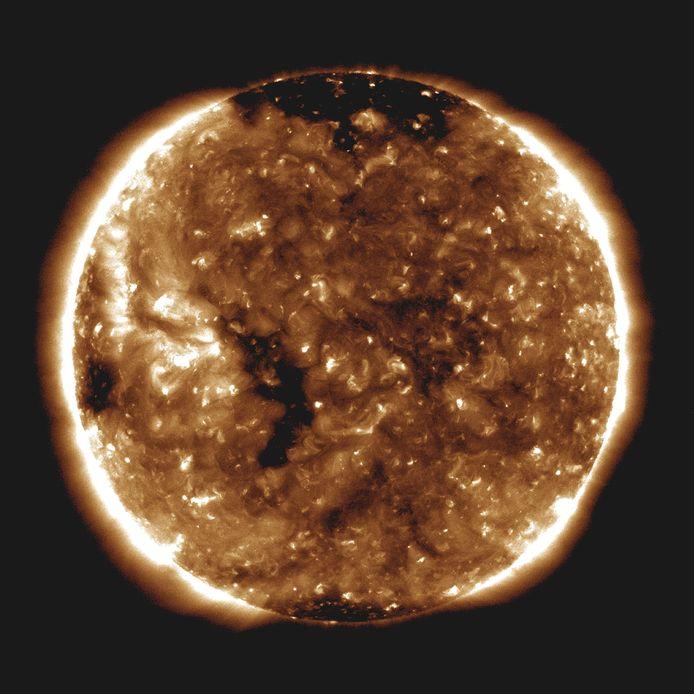Deze foto op 24 miljoen kilometer van de zon gaf de NASA vrij.