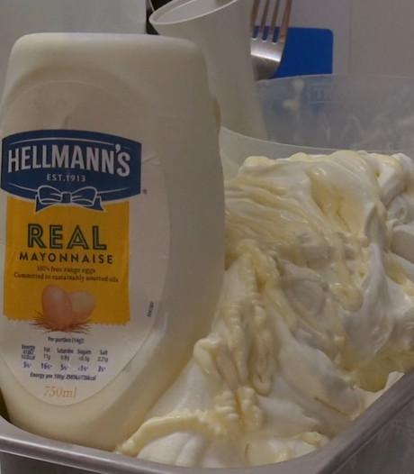 Schot maakt mayonaise-ijs