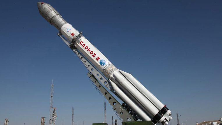 De lanceerinstallatie van een proton-M-raket Beeld EPA