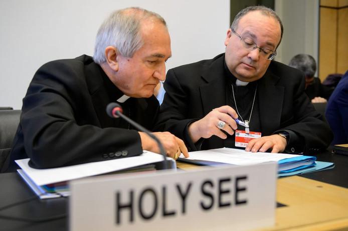 Silvano Tomasi (à gauche), ambassadeur du Vatican auprès de l'ONU