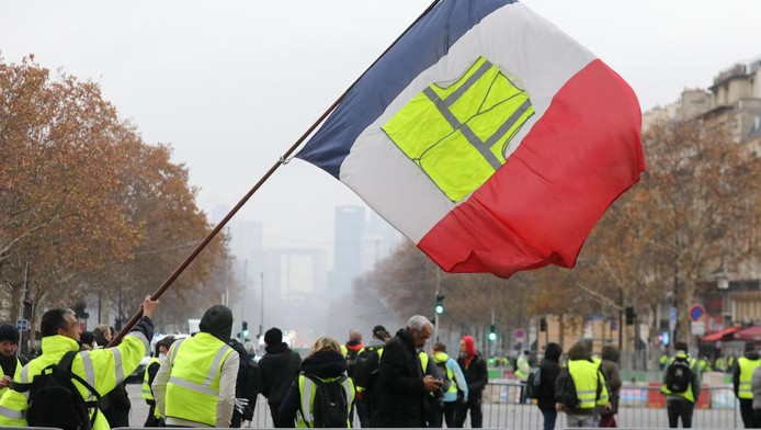 Manifestation des gilets jaunes à Paris, le 1er décembre 2018.