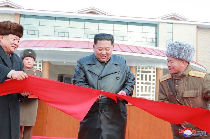 De Noord-Koreaanse leider Kim Jong-un opent een nieuw cultureel centrum.