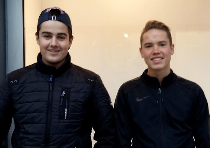 Fabian van Waterschoot (16) en Tony Bol (16) uit Oosterhout