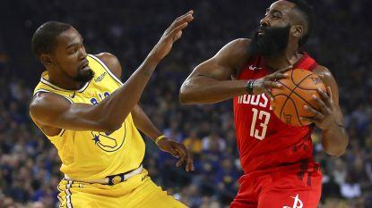 VIDEO. James Harden gevierde man bij Rockets na ultieme driepunter