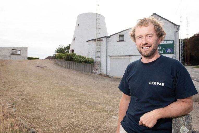 Pieter Loose gaat de site rond de molen op de Hotond een tweede leven geven.