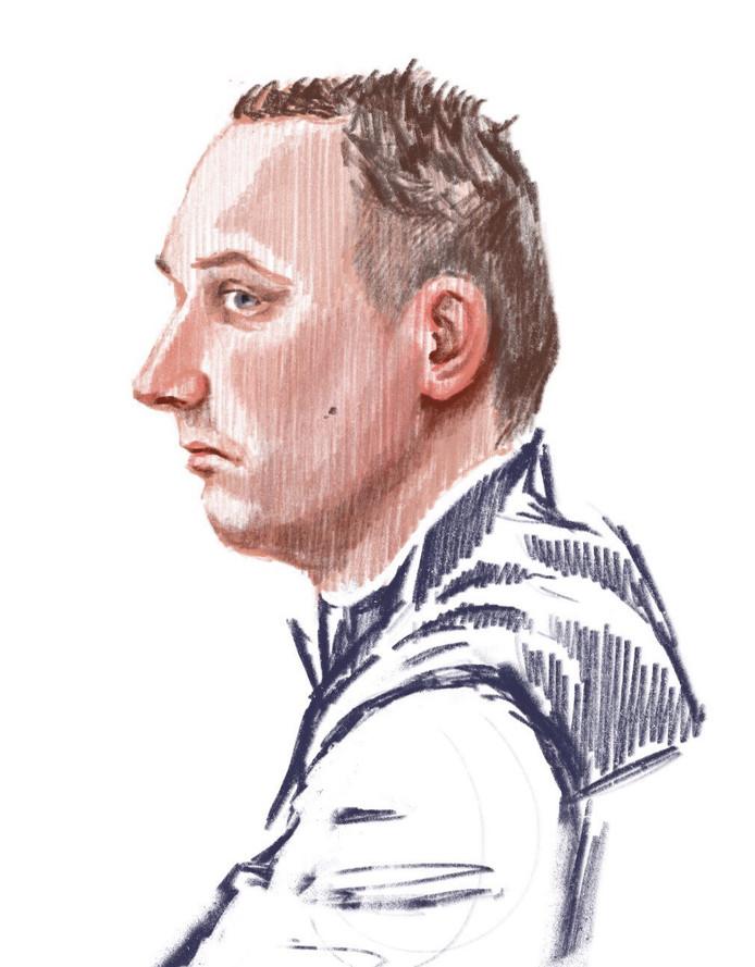 Rémon W. in de rechtbank in Zutphen.