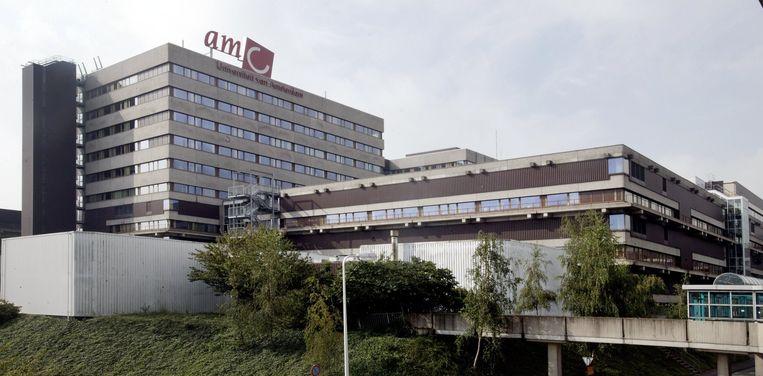 Het Academisch Medisch Centrum (AMC) in Amsterdam. Beeld null