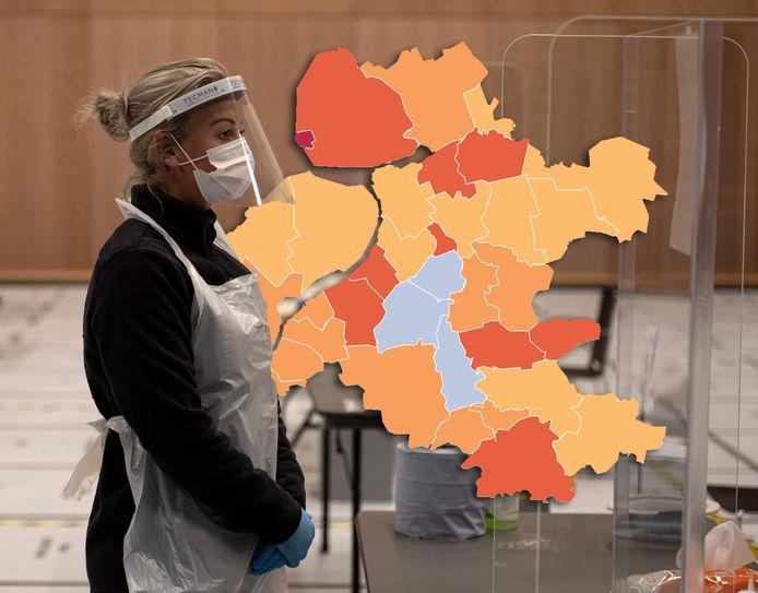 Kaart Meevaller In Ijsselland Urk Coronakoploper Voor Gemeenten In Twente Regio Destentor Nl