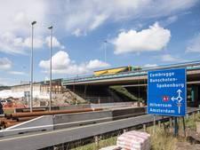Werkzaamheden aan viaduct A1 bij Eembrugge