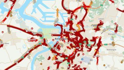 Voor tweede dag op rij staat heel Antwerpen stil (en er liggen nog hele vakantie zware wegenwerken in het verschiet)