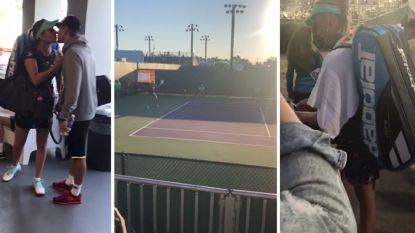 Neem een unieke kijk achter de schermen bij eerste match van Elise Mertens in Miami