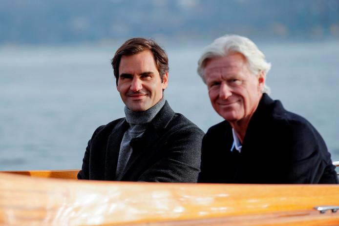 Roger Federer met Björn Borg.