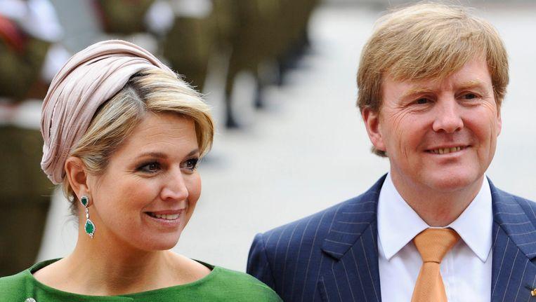 Koning Willem-Alexander en koningin Maxima. Beeld EPA