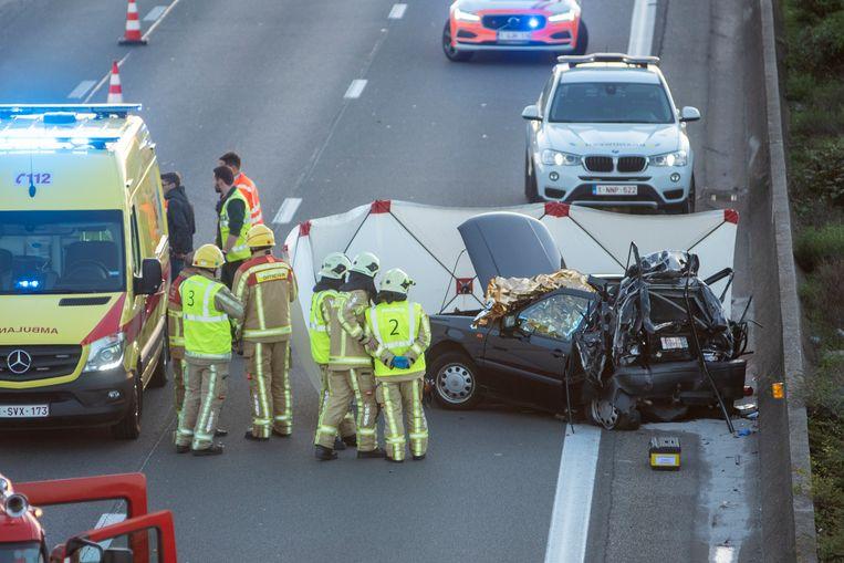 Dodelijk ongeval op de E17 in Kalken richting Antwerpen