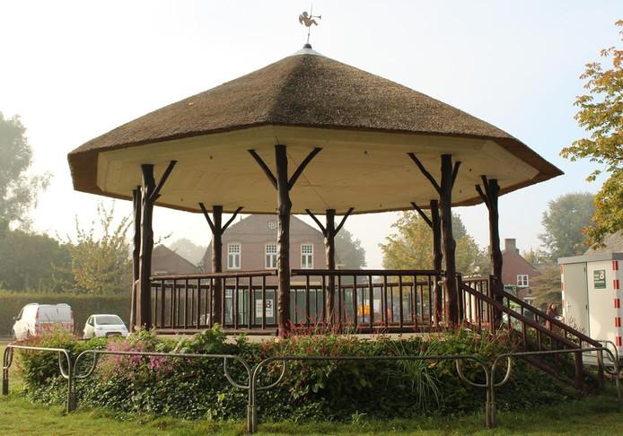 De kiosk in het Concordiapark in Liempde