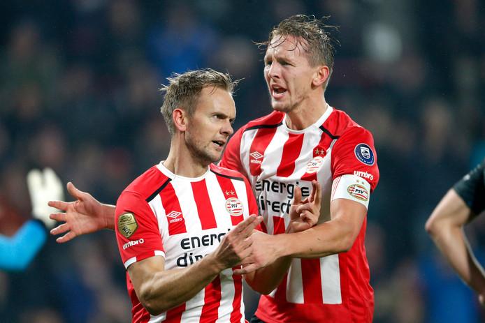 Siem (l) en Luuk de Jong.