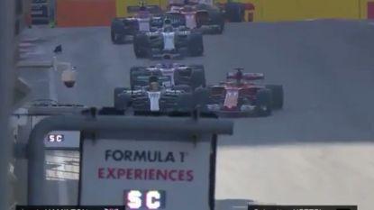 Vettel ramt Hamilton met opzet in GP Azerbeidzjan, Ricciardo pakt zege
