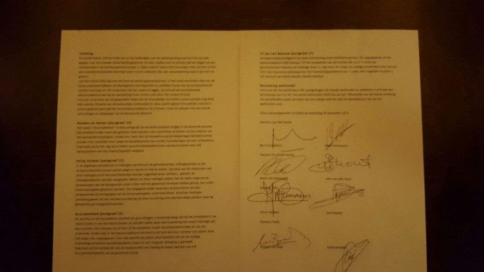 Het bestuursakkoord in Goirle.