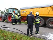 Tractor vat vlam in Oirschot, geen gewonden