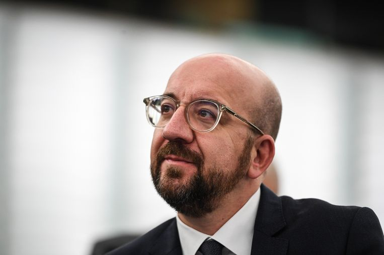 Van de week gaf de nieuwe voorzitter van de Europese Raad, Charles Michel, zijn visitekaartje af. Beeld EPA