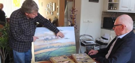 Hij moet er zijn, een foto van een vliegtuigcrash in 1944 in Waarde. Maar wie heeft die?