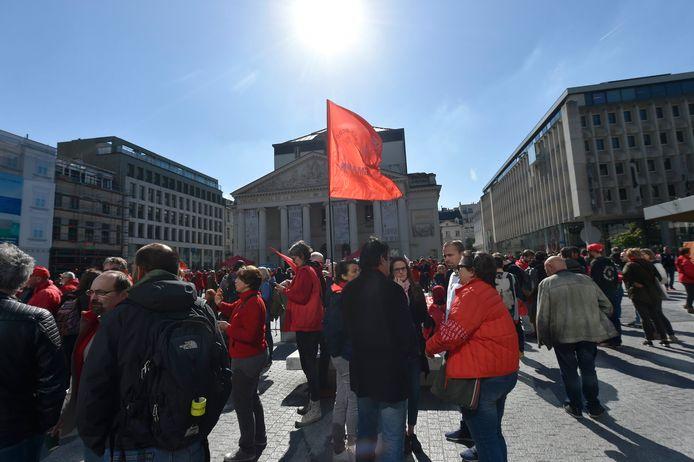 Rassemblement organisé par la FGTB, mardi à Bruxelles