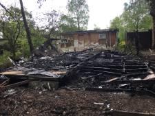 Chalet afgebrand op camping Rooije Asch in Handel