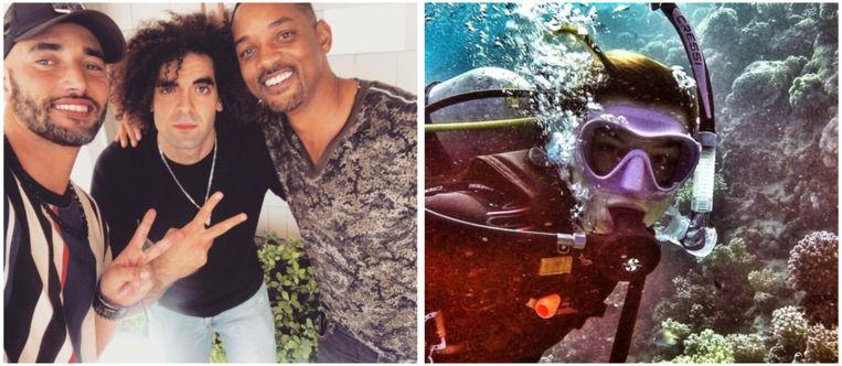 Bilall en Adil poseren met Will Smith en deze BV haalde een duikbrevet.