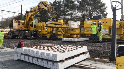 Forse werken aan spoor Leuven-Ottignies