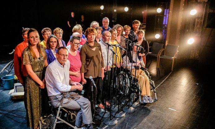 Het theaterstuk met mensen met jongdementie is een primeur in Europa.