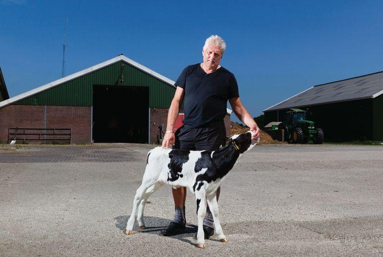 Foppe Nijboer, voorzitter van de Feriening Biologyske Boeren Fryslân. Beeld Hanne van der woude