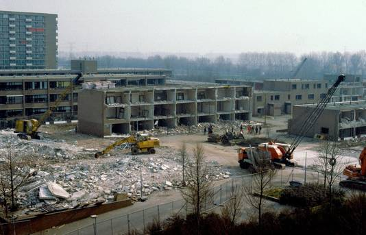 Een hele wijk werd in Dordrecht gesloopt vanwege de grondverontreiniging.