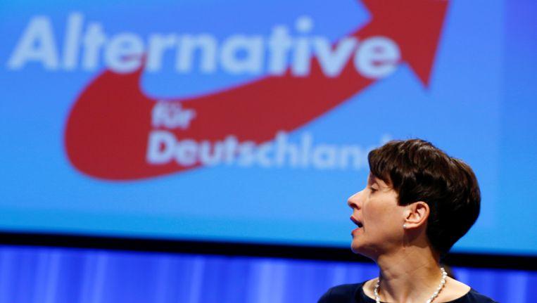 Frauke Petry, voorzitster van de AfD.