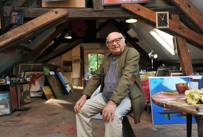 Jacques Dessange in 2011. De laatste jaren van zijn leven hield hij zich vooral met schilderen bezig.