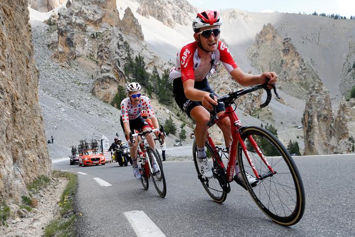 Tiesj Benoot (voor) tijdens de Tour de France.