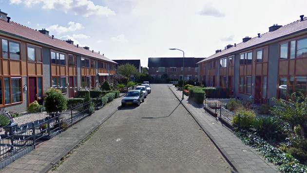 De straat waar het incident zich voordeed.