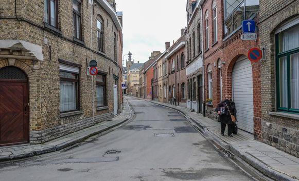 In Ieper wordt de Langemeesrstraat afgesloten voor een container.