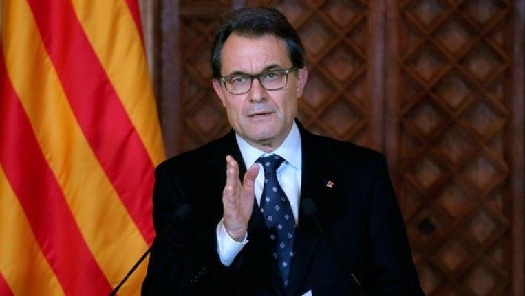 Artur Mas, de nationalistische regeringsleider van Catalonië Beeld afp