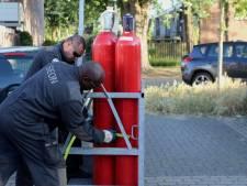 Stikstofflessen en grondstoffen voor harddrugs gevonden in appartement Rosmalen: 'Levensgevaarlijk in een woonwijk'