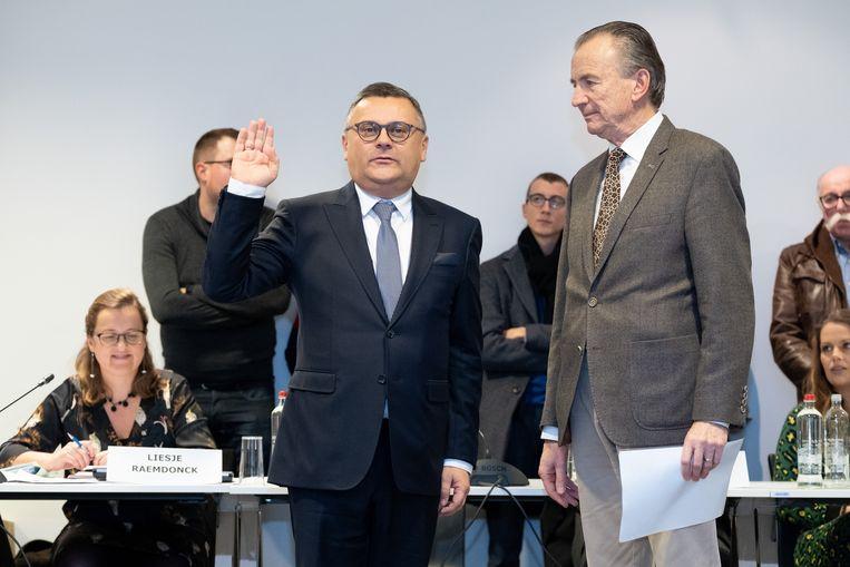 Voormalig burgemeester Luc De boeck (CD&V) en voormalig voorzitter van de gemeenteraad Vital Vermijlen