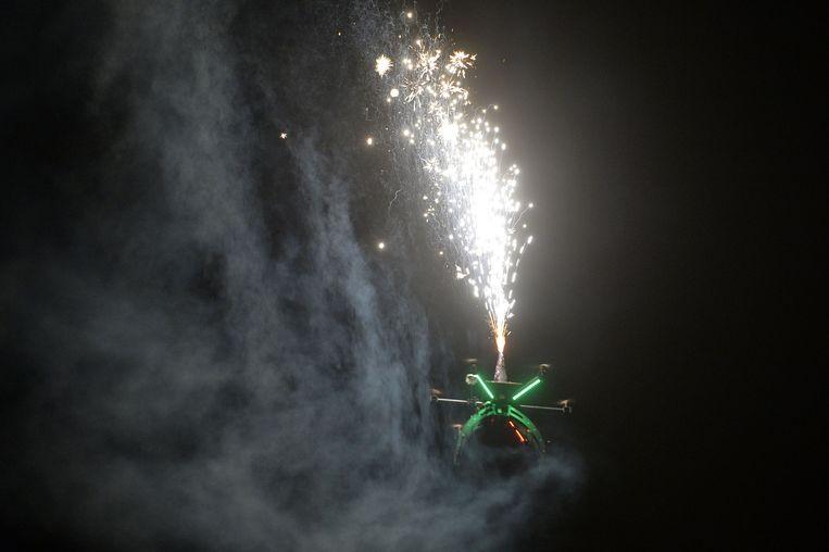 29122014 Kalmthout drone Vuurwerk afschieten met een drone
