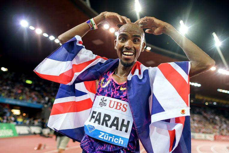 Olympisch kampioen Mo Farah was een van de belangrijkste atleten die Alberto Salazar in de afgelopen jaren trainde. Beeld AFP