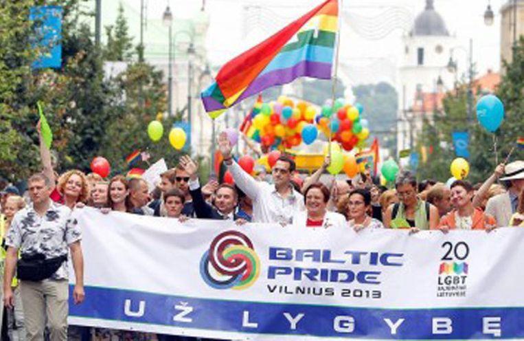 Baltic Pride Vilnius 27 juli 2013 Beeld Presseurop.